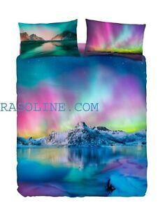 Complete Double Duvet Cover Bedding Aurora Imagine Landscape Bassetti Ebay