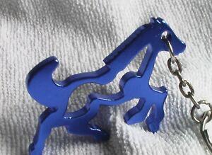 Schlüsselanhänger - DUNKELBLAUES WILDPFERD - aus Aluminium - Gesamtlänge ca.11cm