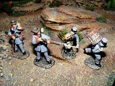 Frontline Figures, 4 Südstaaten Figuren Amerikan. Bürgerkrieg, Maßstab 1/32