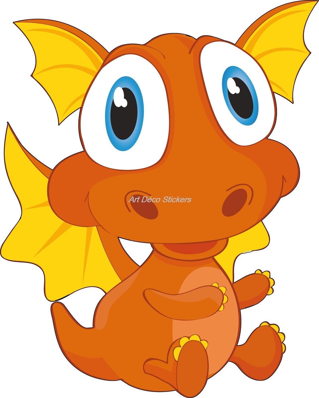 Aufkleber Kind Baby Dragon Ref 916 (Abmessungen der 10 cm 130 cm Höhe)