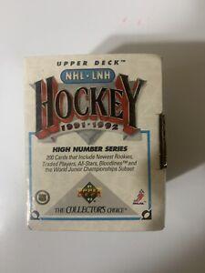 UPPER-DECK-NHL-LNH-HOCKEY-1991-1992-HIGH-NUMBER-SERIES-200-CARDS