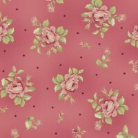 Welcome Home Dark Pink Print Fabric By Maywood Studios, 100% Premium Cotton