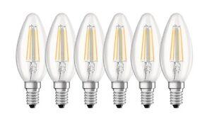 6er-PACK-OSRAM-LED-BASE-Classic-B40-E14-Filament-2700K-4W-wie-40W-Kerzenlampe