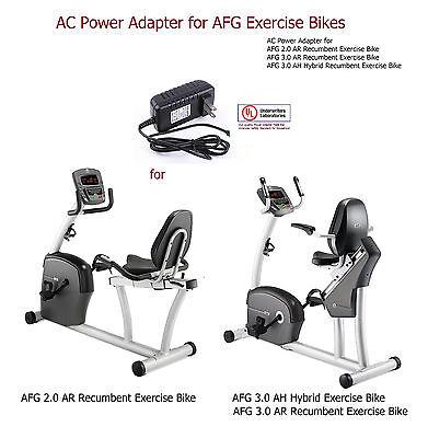 AC Power Adapter for AFG 4.0 AH Hybrid Exercise Bike 4.0 AR Recumbent Bike