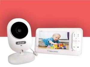 "BABY MONITOR WIRELESS VISIONE NOTTURA VIDEO AUDIO MONITOR 4.3"" Q-A129"