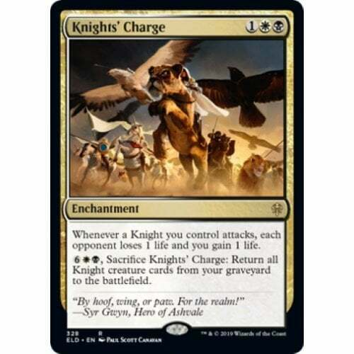 4x Knights/' Charge Near Mint Magic card modern legacy Throne of Eldraine ELD