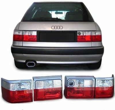 CLEAR REAR TAIL LIGHTS LAMPS FOR AUDI 80 B3 89 SALOON /& B4 ESTATE NICE GIFT