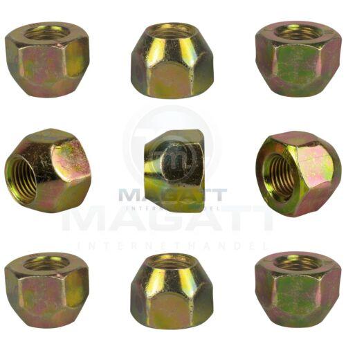 20 Dadi Ruota Dadi zinco m12 1,25 cono aperto 60 ° cono federale Cerchi in lega sw21