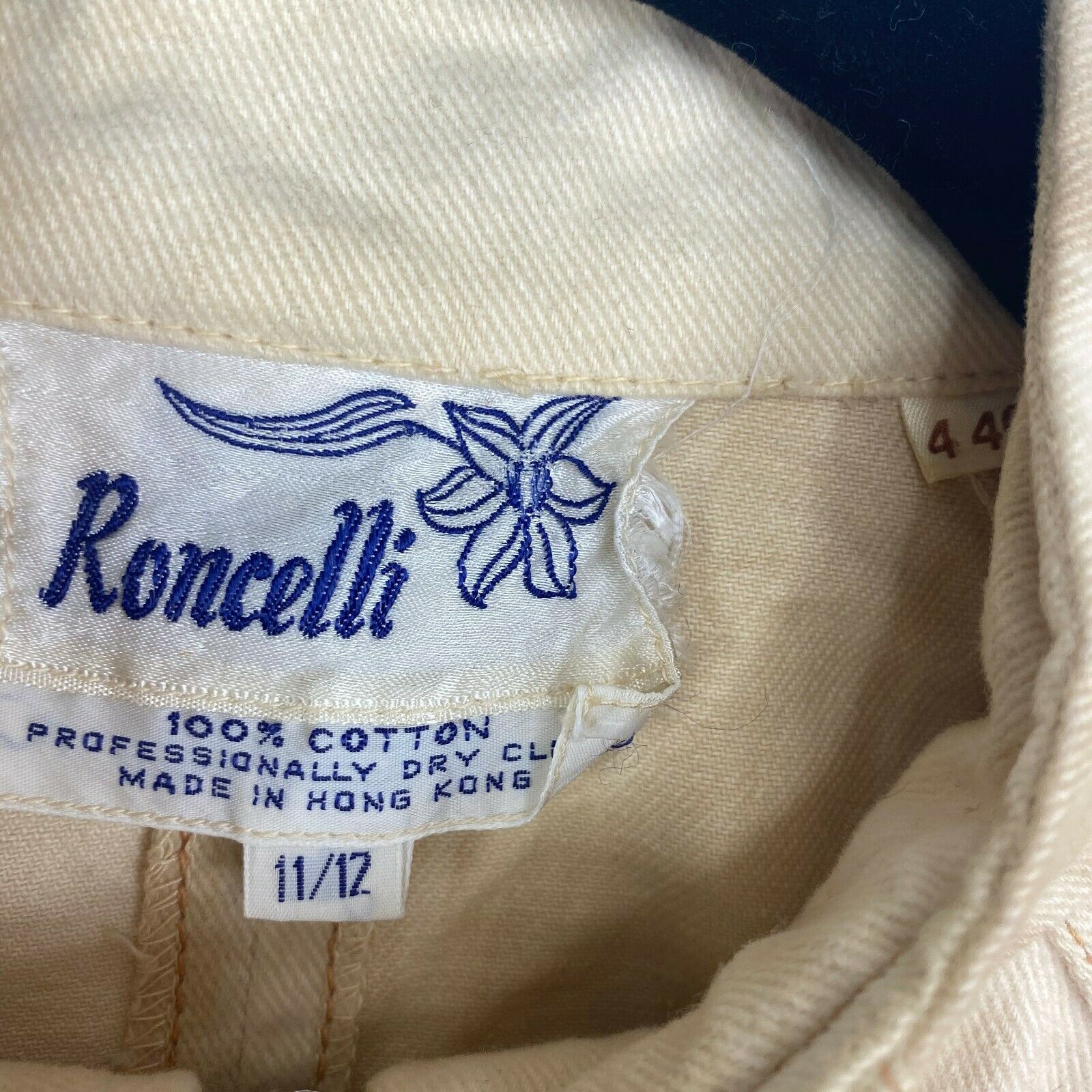 Vintage Roncelli Womens Size 11/12 Tie Sleeve Ful… - image 4