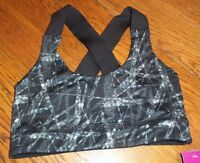 Small Black Gray White Mta Sport Sports Bra Medium Impact Brand
