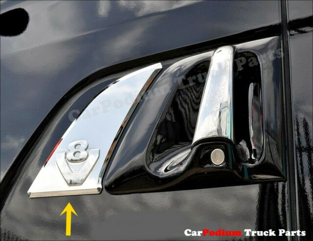 4 piece set 3D mirror stainless steel handle door covers for FH4 trucks 2013+