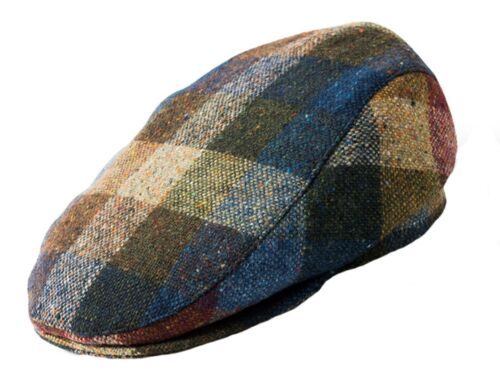 Failsworth Donegal Wool Tweed Patchwork Flat Cap
