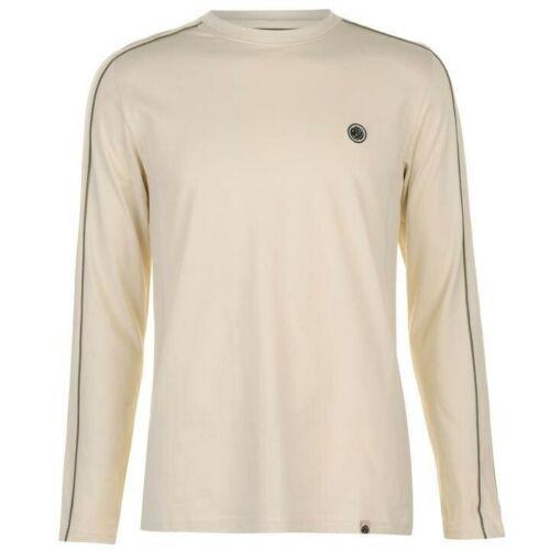 BNWT Pretty Green Clandestine Long Sleeved T-Shirt Stone L RRP £50 S8GMU97239742