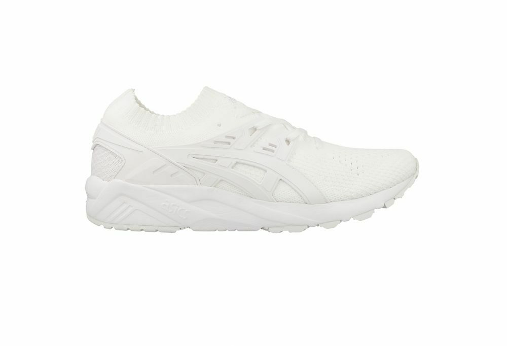 ASICS GEL KAYANO TRAINER KNIT NEW White MENS H705N $150 NEW KNIT 5f8a53