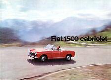 Fiat 1500 Cabriolet 1964-65 UK Market Foldout Sales Brochure