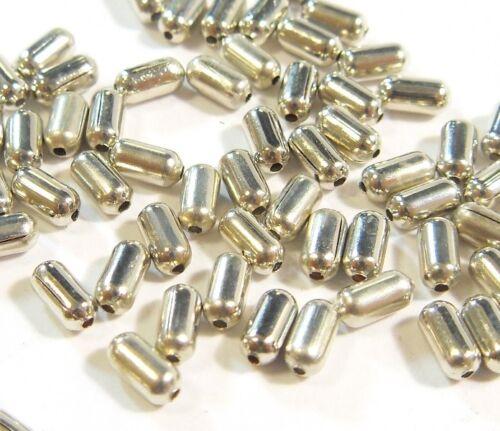 250 abalorios metálicos entre piezas bastones tubo 4mm spacer joyas bricolaje m165
