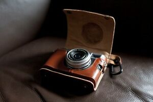 Genuine-Real-Leather-Full-Camera-Case-bag-cover-for-FUJI-X100-X100S-Brown