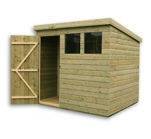 Garden Sheds 8x6 8x6 garden shed shiplap pent roof tanalised windows pressure