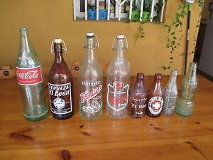 Collection-de-Bouteilles-de-Verre-Antique-Collection-Of-Verre-Antique-Bottles