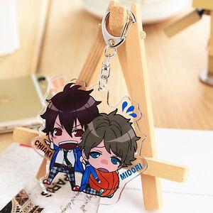 Vtuber Cute FBK Key Chain Buckle Shirakami Fubuki Anime Keychain Standing Figure