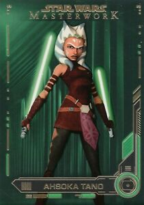 Star-Wars-Masterwork-2019-Ahsoka-Tano-62-Green-Parallel-Base-Card-93-99