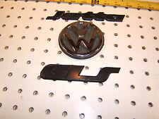 VW 97 Jetta GLS Rear deck lid Chrome / black Plastic OEM 2 emblems,1 set of 2