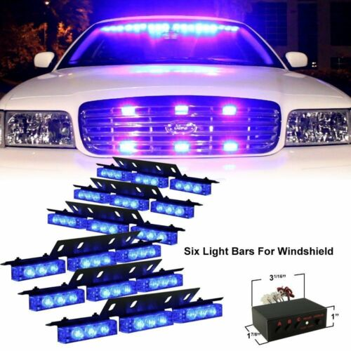 Zone Tech 54 LED Car Emergency Grille Police Strobe Lights Amber White Blue Red