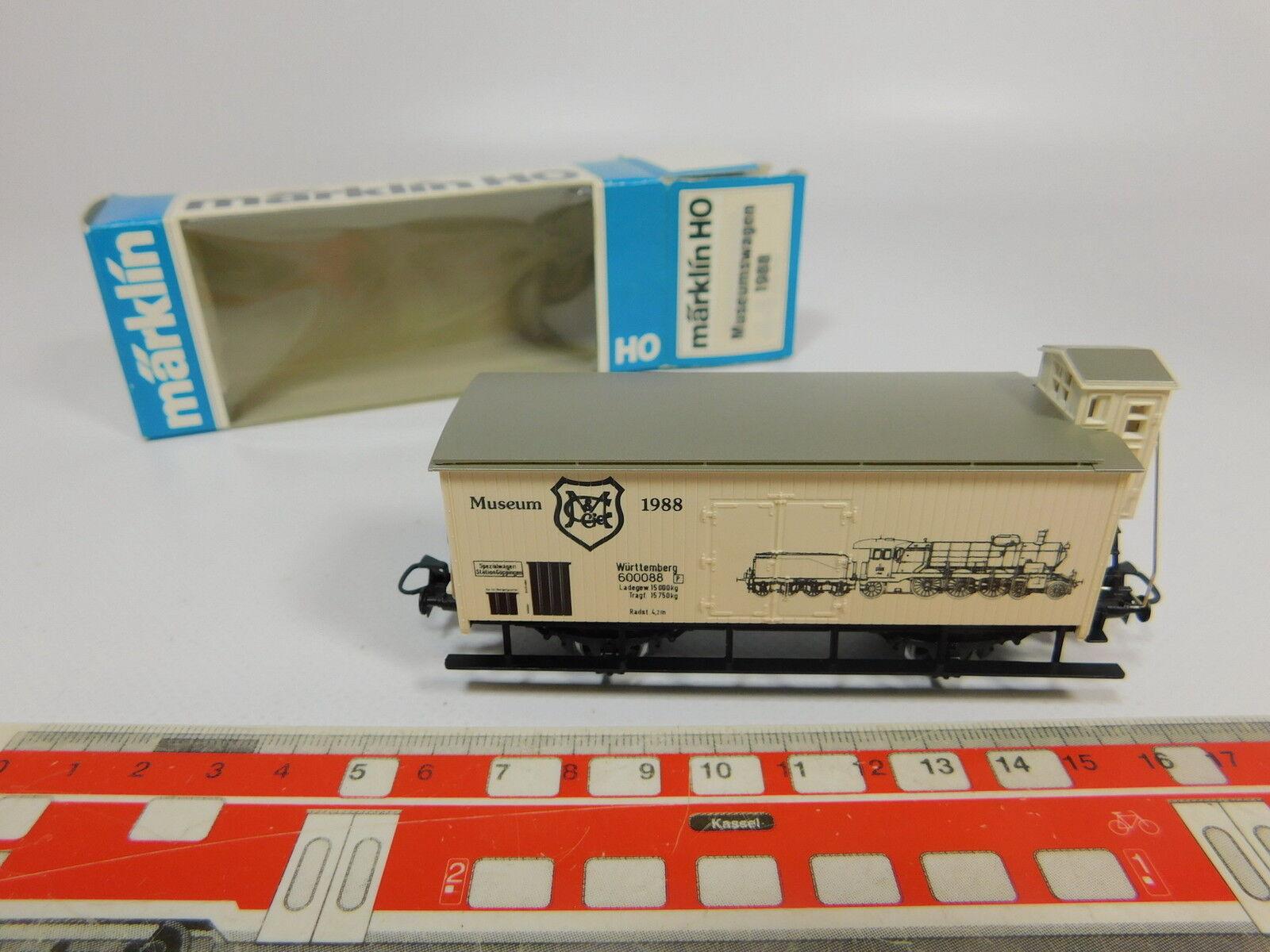 AQ587-0,5Märklin H0 AC Güterwagen Museumswagen 1988 K.W.St.E., NEUW+OVP