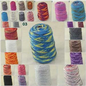 Sale-500gr-NEW-Knitting-Cone-Yarn-Chunky-Hand-woven-Colorful-Soft-Wool-Cashmere