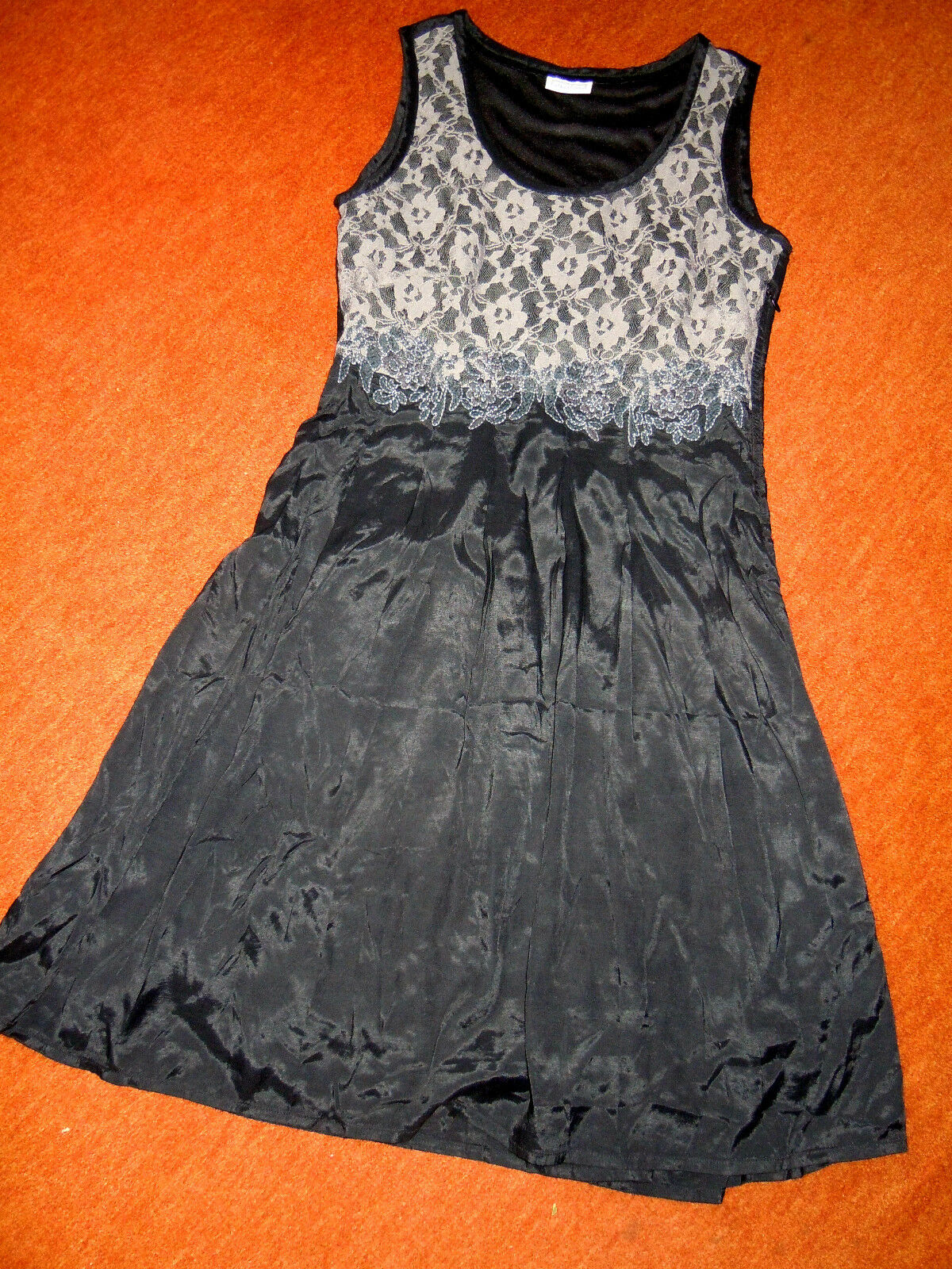 Elegantes schwarzes Kleid von STREET ONE Gr.36, TOP Design mit edler Spitze