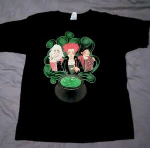 047a9b3d4 Image is loading Hocus-Pocus-Black-Shirt-Cartoon-Halloween-Sanderson-Sisters -