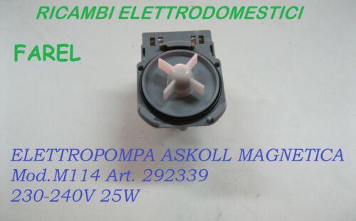 POMPA SCARICO LAVATRICE UNIVERSALE ASKOLL ELECTROLUX REX AEG ZANUSSI 63AE005