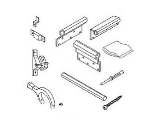 Dometic Slide Out Awning Hardware On 3106992 039b White