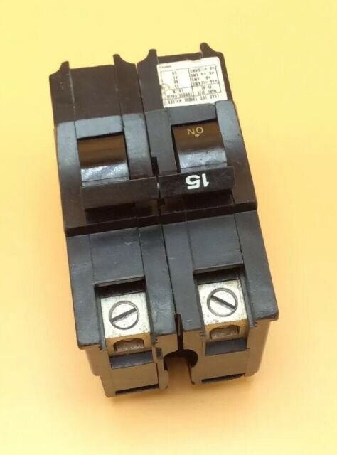 NEW     CHALLENGER FEDERAL PACIFIC NA215 15 AMP 2-POLE PLUG IN BREAKER 215