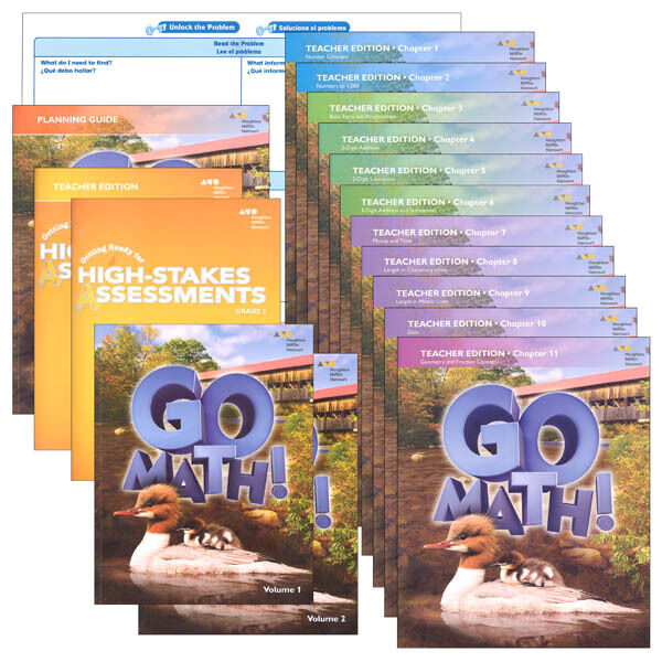 Grade 2 Go Math Homeschool Kit Teacher Editions 2nd Curriculum Non Common  Core