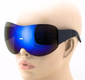 d00025f917a57 Image is loading Womens-Exaggerated-Vintage-SHIELD-VISOR-Style-SUN-GLASSES-
