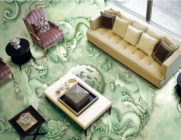 3D Emboss Green 84 Floor WallPaper Murals Wall Print Decal AJ WALLPAPER US Carly