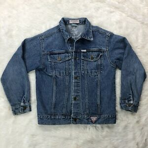 Vtg-Guess-Georges-Marciano-Jean-Jacket-Womens-Sz-Medium-Blue