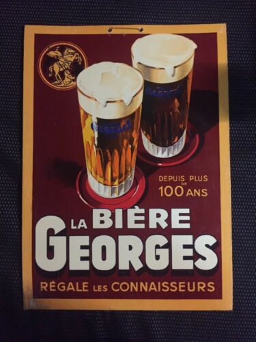 ANTIQUE CARTON ADVERTISING BEER GEORGES