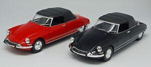 WELLY-voiture-miniature-CITROEN-DS-19-cabriolet-avec-capote-moulage-1-24-L-20-2-cm