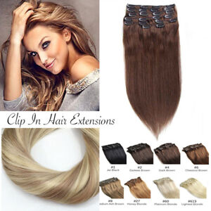 Extension-Cheveux-a-Clips-Naturel-Maxi-Volume-Full-Head-Remy-Human-Hair-Lisse-FR