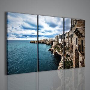 Quadro moderno polignano a mare stampa su tela paesaggi for Quadri moderni per arredamento
