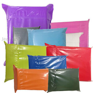 Coloured-Mailing-Bags-Plastic-Postal-Postage-Poly-Shipping-Strong-Seal-All-Sizes