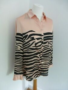 BNWT-Armani-Exchange-pink-black-pattern-print-shirt-blue-Size-S-NEW