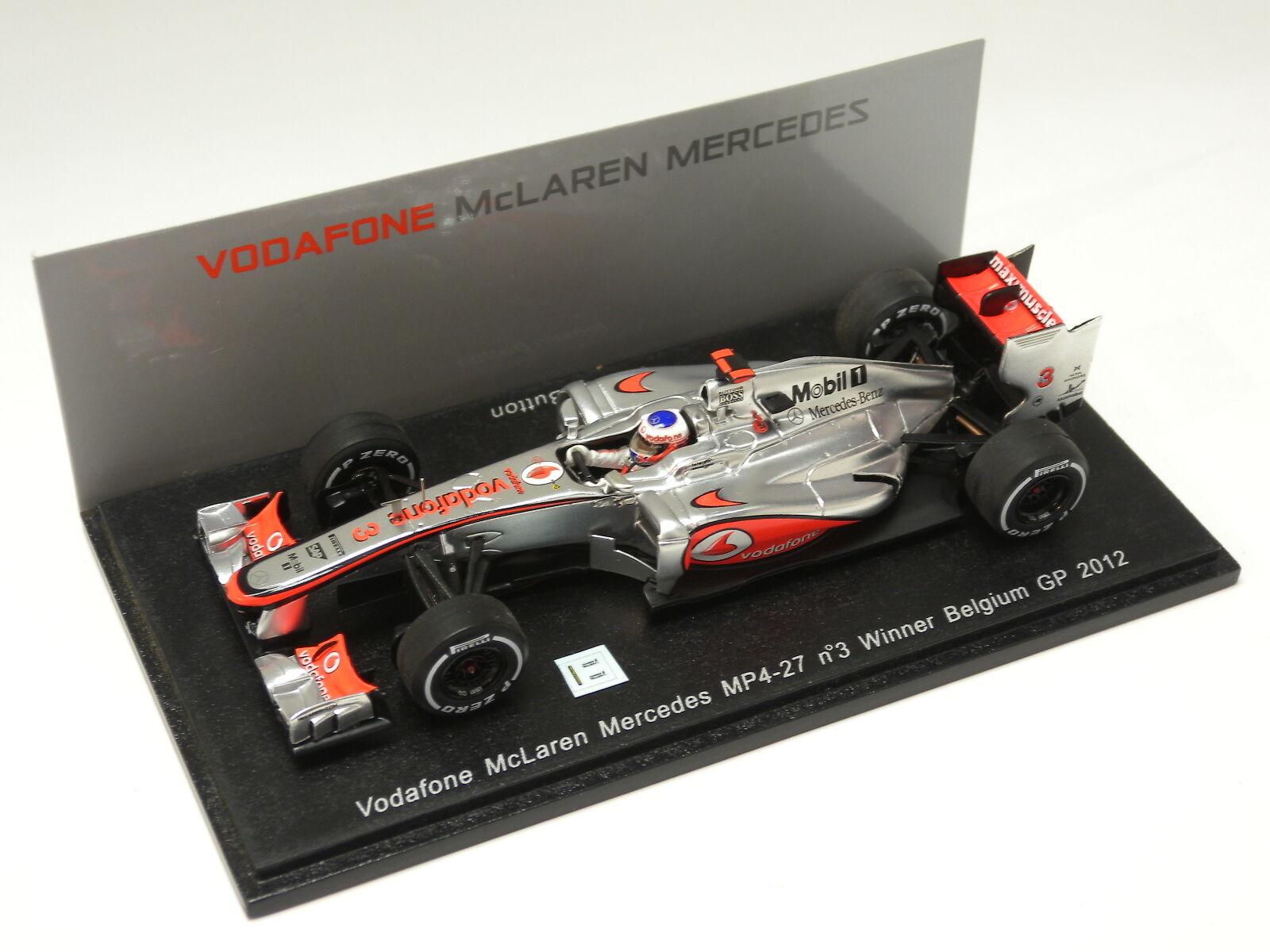 McLaren MP4-27, No.3, gagnant Belgique Grand Prix 2012 Spark models 1 43  S3046