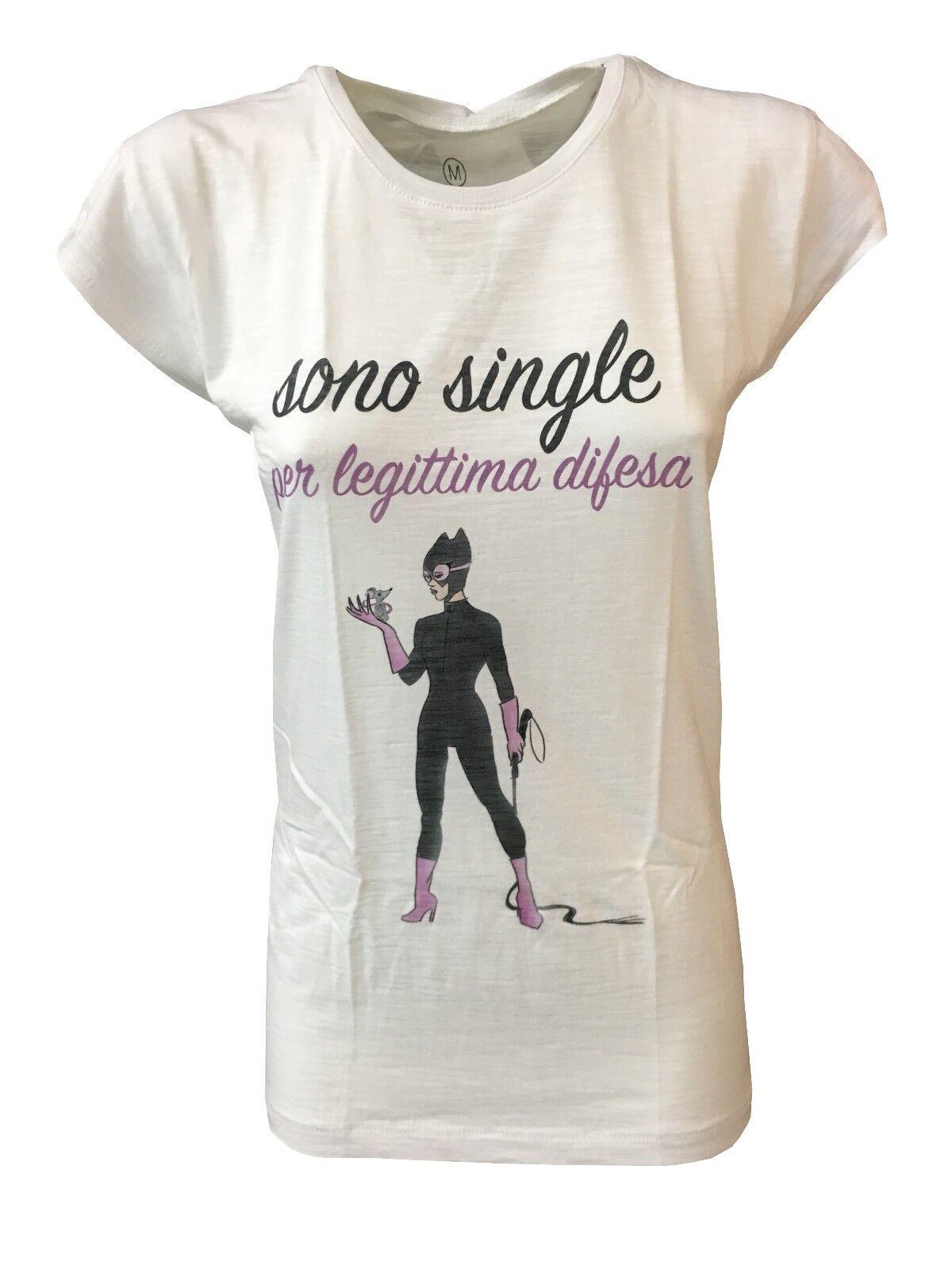 Tip&top Camiseta Mujer Media Manga en blancoo  Single 100% Algodón  primera vez respuesta