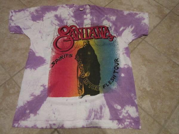 Santana 1990 Spirits Dancing in the Flesh tour Original Vintage tshirt
