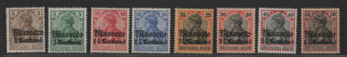 $German offices in Morocco Sc#3340 MLHVF, partial set, Cv. $127