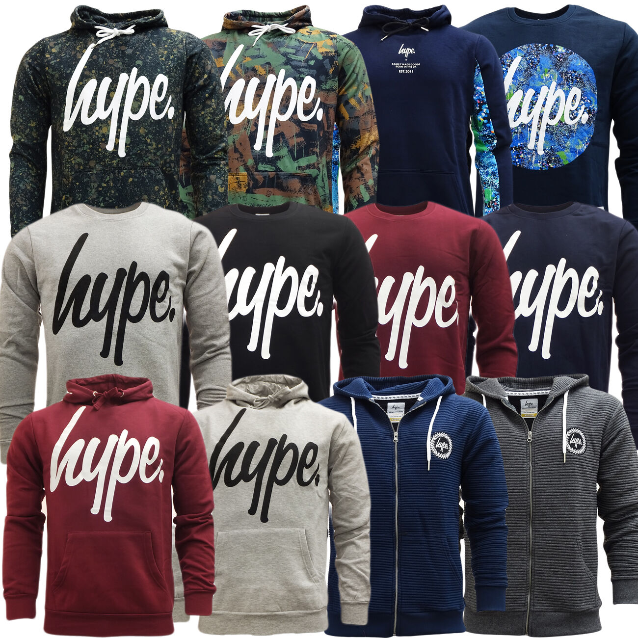 HYPE JUMPER - Sweatshirt Hoodie / Hooded Jumper - NEW XXS XS S M L XL XXL