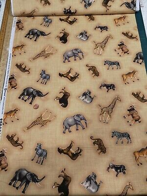 100/% Cotton quilting craft Fabric Freedom Wild Animal snake Print